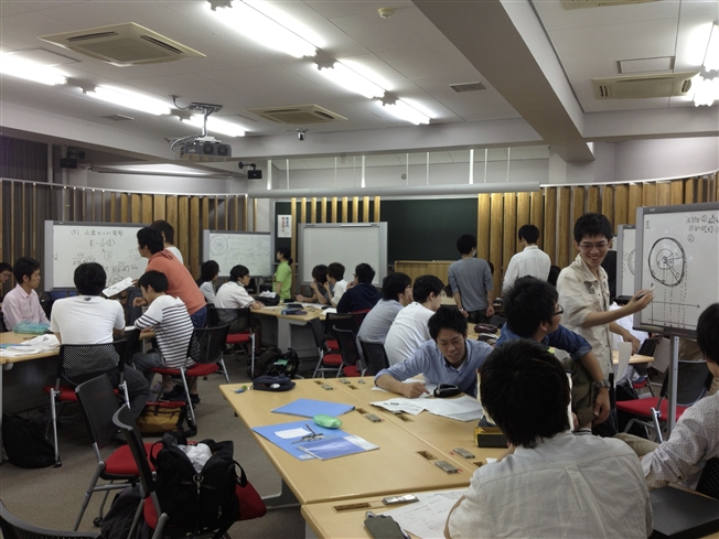 グループワーク室での授業①